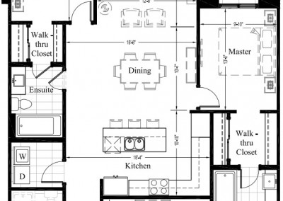 Suite 404 – 1,479 Sq Ft – 2 Bdrm Floor Plan 2L